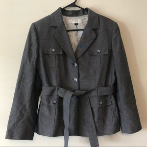 Tahari ASL Gray Short Trench